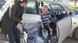 SOCAR have bought wheelchairs for persons with disabilities